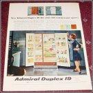 1965 Admiral Duplex 19 refrigerator ad
