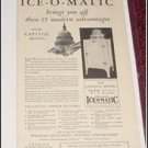1930 Williams Ice O Matic Refrigerator ad