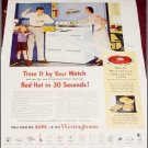 1951 Westinghouse Electric Range ad