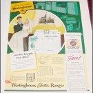 1940 Westinghouse Electric Range ad
