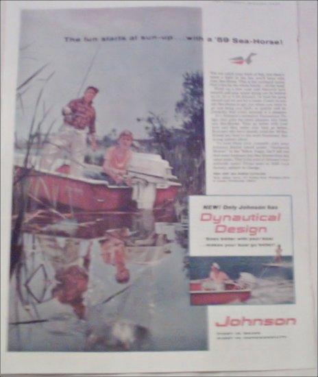 1959 Johnson Seahorse Motor ad