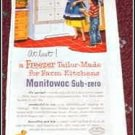 1952 Manitowac Freezer ad
