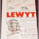 Lewyt Vacum Cleaner ad
