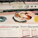 1957 GE Keyboard Range ad