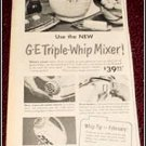 1951 GE Triple Whip Mixer ad