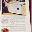 1951 Florence Gas Range ad