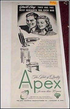1946 Apex Appliances ad