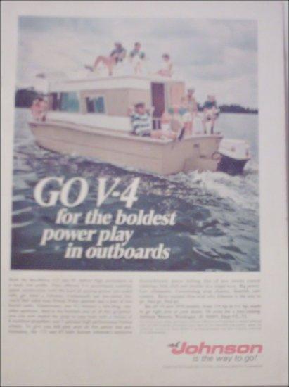 1970 Johnson V-4 Motor ad