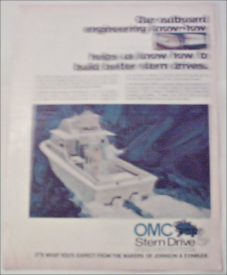1972 OMC Stern Drive Motor ad #1