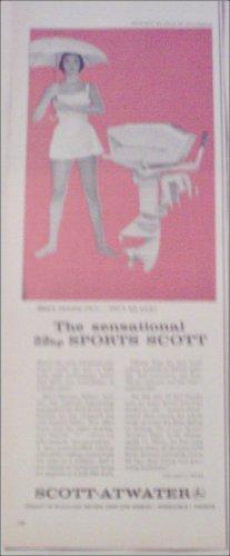 1958 Scott-Atwater 22 HP Motor ad