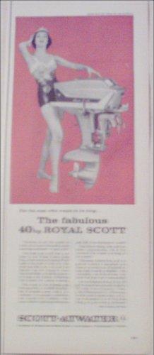 1958 Scott-Atwater 40 HP Royal Motor ad