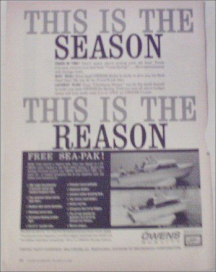1960 Owens Boat ad