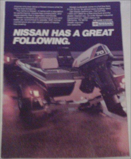 Nissan 70 Motor ad