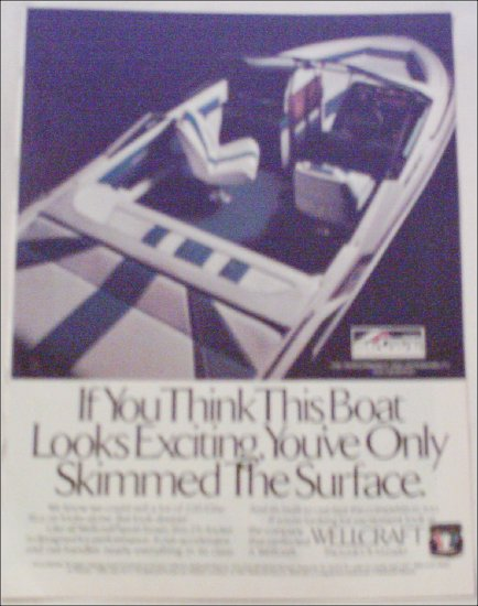1988 Wellcraft 220 Elite Boat ad