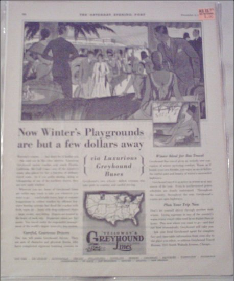 1929 Greyhound Bus Lines ad