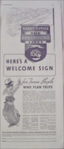 1935 Greyhound Bus Lines ad
