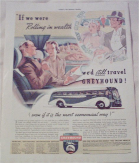 1938 Greyhound Bus Lines ad
