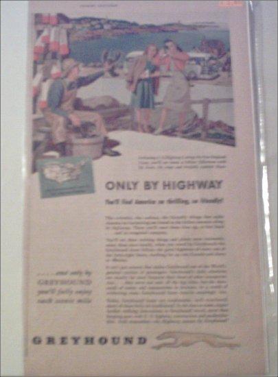 1946 Greyhound Bus Lines ad