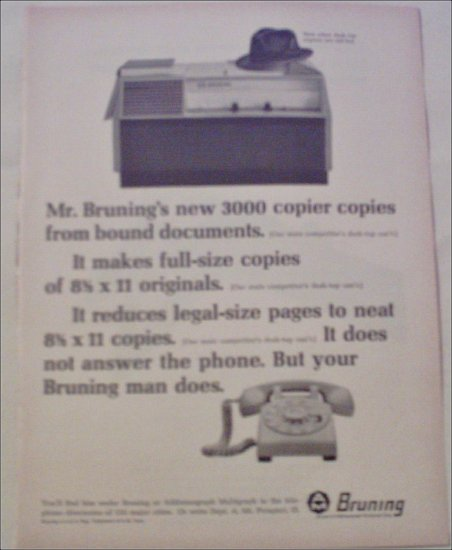 Bruning 3000 Copier ad