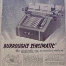 1950 Burroughs Sensimatic Accounting Machine ad