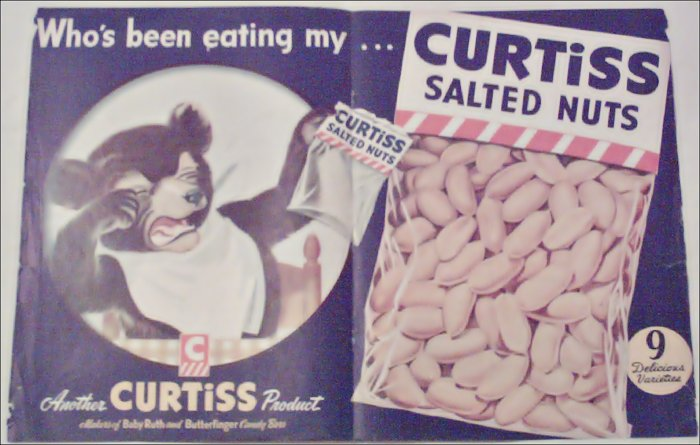 1947 Curtiss Salted Nuts ad
