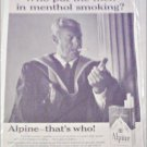 Alpine Cigarette ad