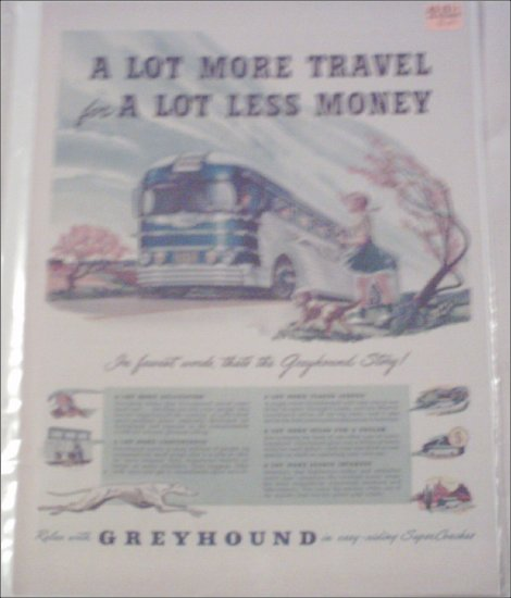 1949 Greyhound Bus Lines ad