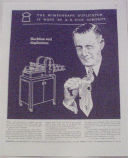 1946 A B Dick Duplicator Machine ad