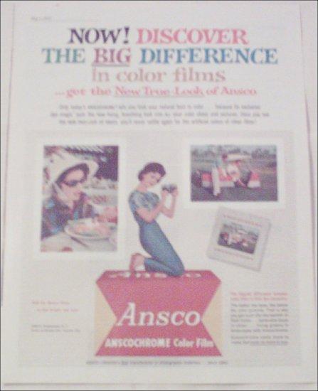 1962 Ansco Anscochrome Film ad