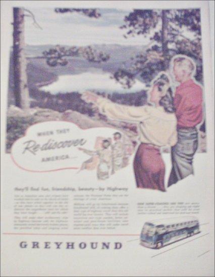 1945 Greyhound Bus Lines ad