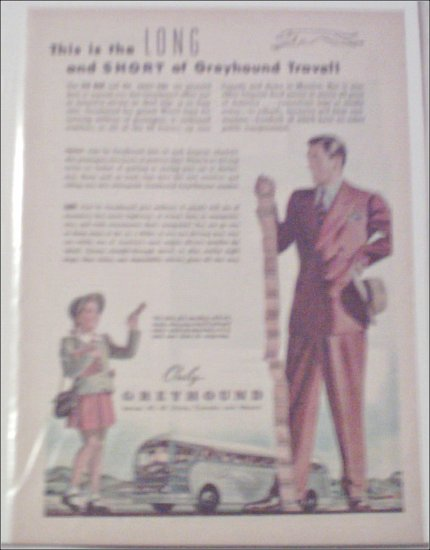 Greyhound Bus Lines Long and Short ad