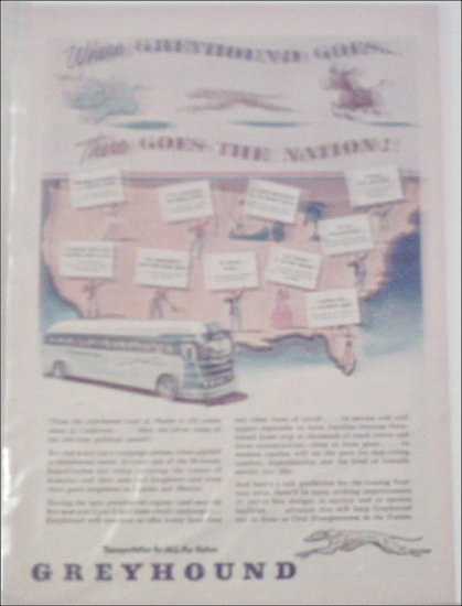 1952 Greyhound Bus Lines ad #3