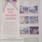 Greyhound Bus Lines Vacation ad
