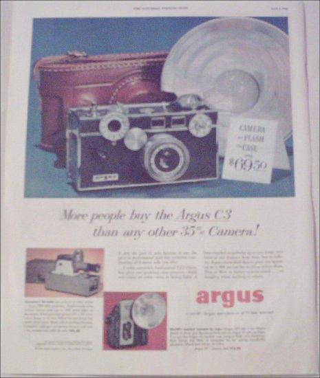 1952 Argus C3 35 mm Camera ad