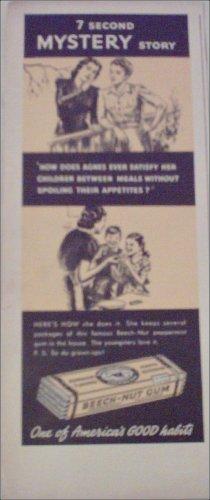 1940 Beech-Nut Peppermint Gum ad