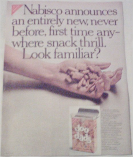 1966 Nabisco Doo Dads Snack ad