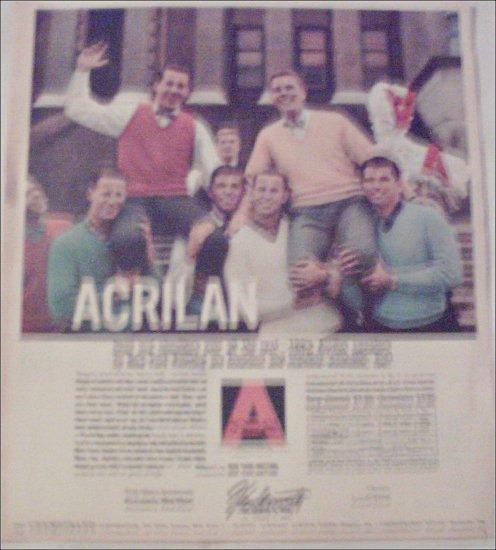 1956 Acrilan Fiber ad