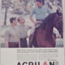 1957 Acrilan Fiber ad
