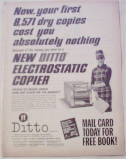 1965 Ditto Electrostatic Copier Machine ad