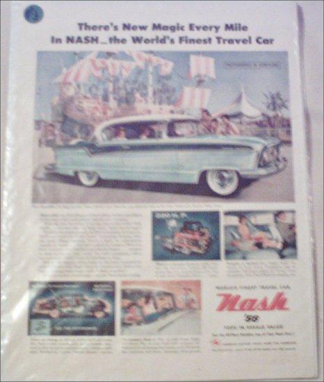 1956 American Motors Nash Ambassador CC 2 dr ht car ad at Disneyland
