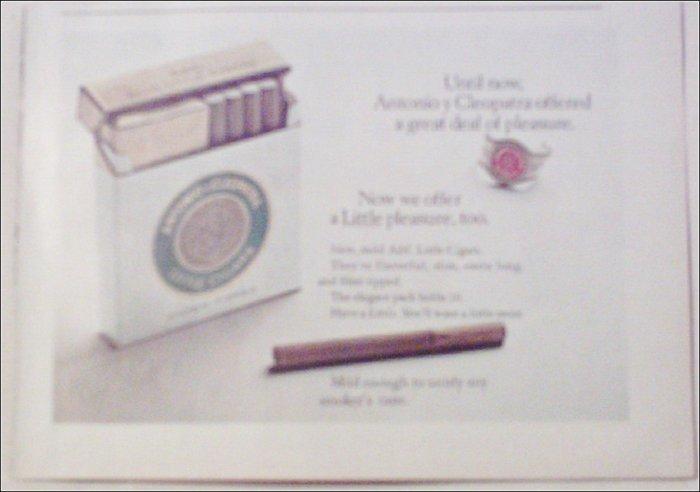 Antonio y Cleopatra Little Cigars introductory ad