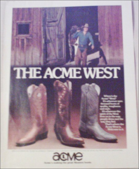 Acme West Boot ad