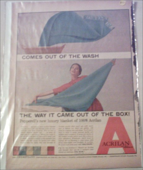 Acrilan Blue Blanket ad