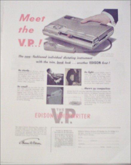 1953 Edison Voiceprinter ad