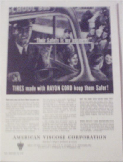1946 American Viscose Corporation ad