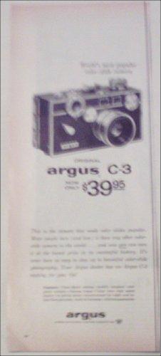 1959 Argus C-3 Camera ad