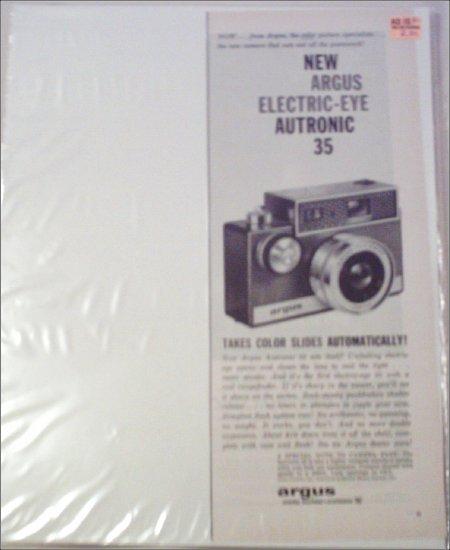 1960 Argus Autronic 35 Camera ad #2