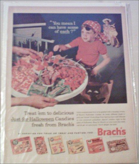 1962 Brachs Halloween Candies ad