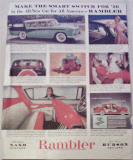 1956 American Motors Rambler 4 dr sedan car ad