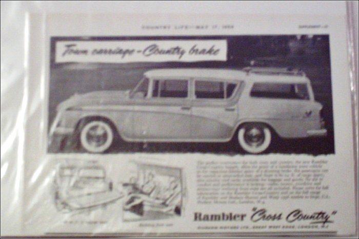 1956 American Motors Rambler CC stationwagon car ad from Great Britain